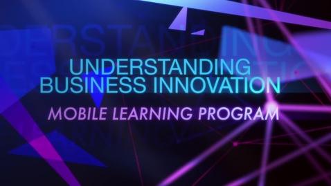 Thumbnail for entry TRAILER - Understanding Business Innovation