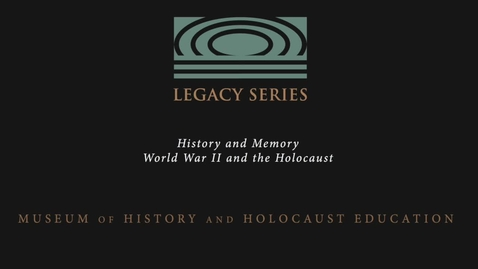 Thumbnail for entry Edward Francell: Holocaust Memory