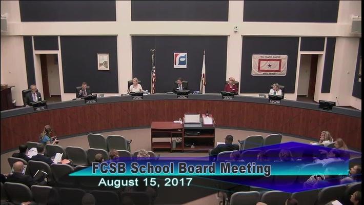 Board Meeting August 25, 2017
