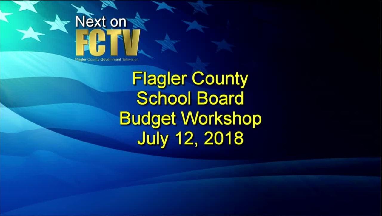 Budget Meeting July 12, 2018
