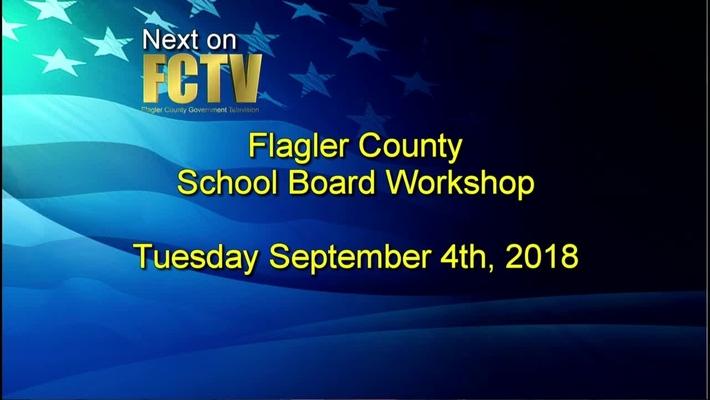 Board Workshop September 4th, 2018