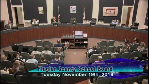 Thumbnail for entry Board Meeting November 19, 2019