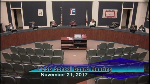 Thumbnail for entry Board Meeting November 21, 2017