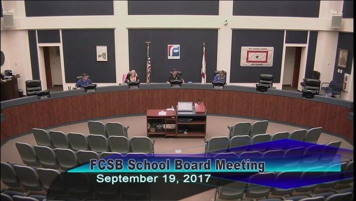 Board Meeting September 19, 2017