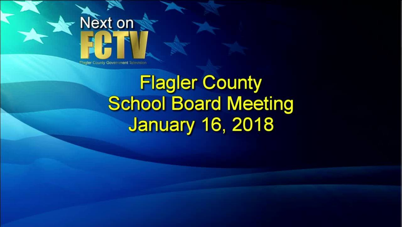Board Meeting January 16, 2018
