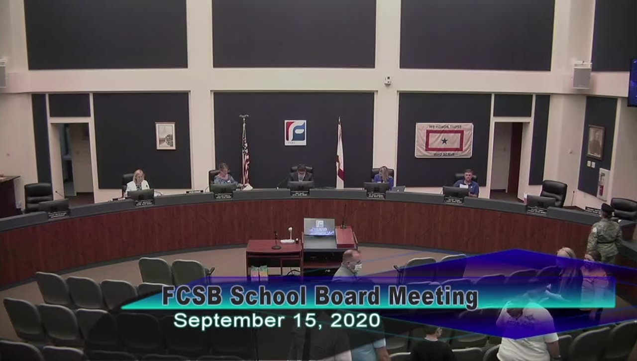 Board Meeting - September 15th, 2020