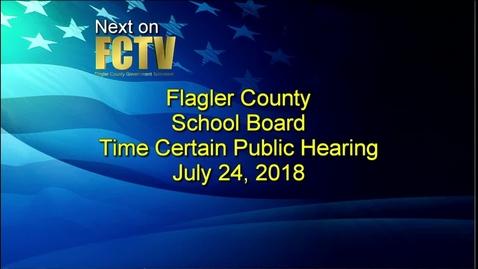 Board Meeting July 24, 2018