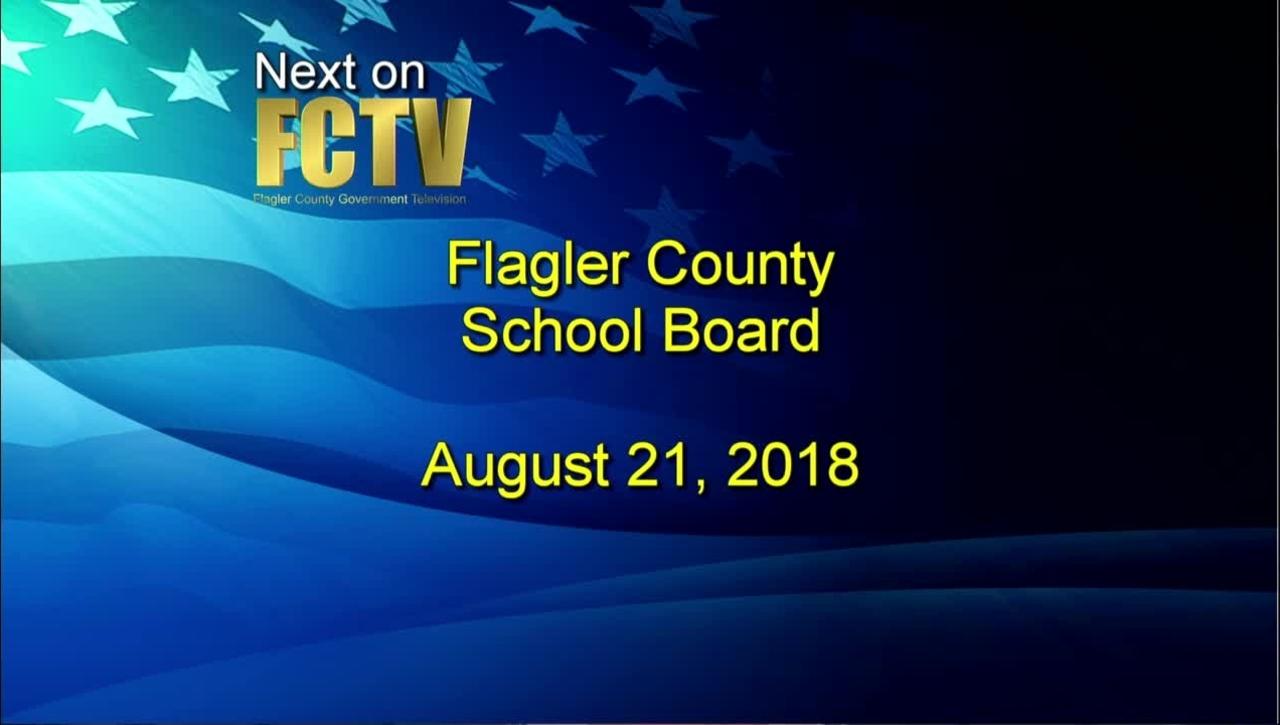 Board Meeting August 21, 2018