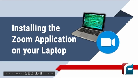 Thumbnail for entry Installing Zoom on your Laptop