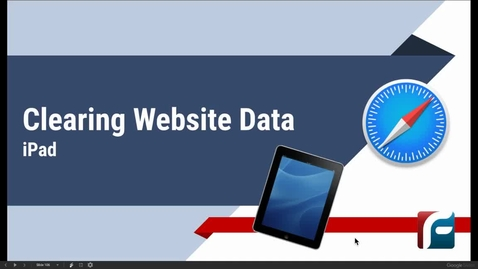 Thumbnail for entry Clearing Website Data iPad