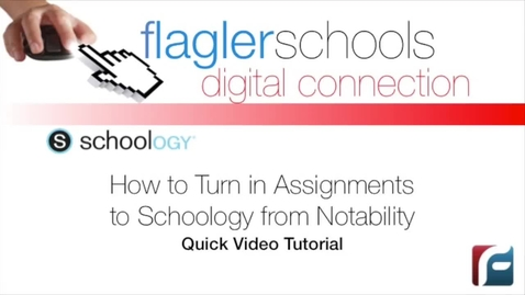 Thumbnail for entry Submitting Schoology Assignments from Notability