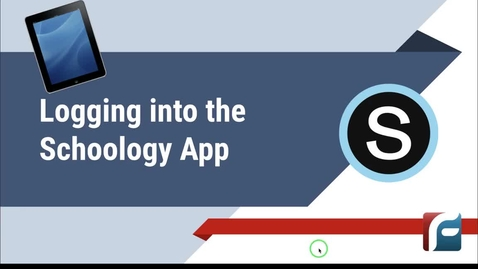 Thumbnail for entry Logging into the Schoology App