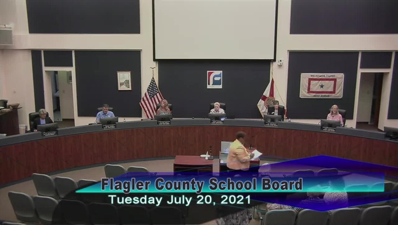 Board Meeting - July 20th, 2021