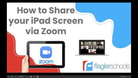 Thumbnail for entry How to share your iPad Screen via Zoom