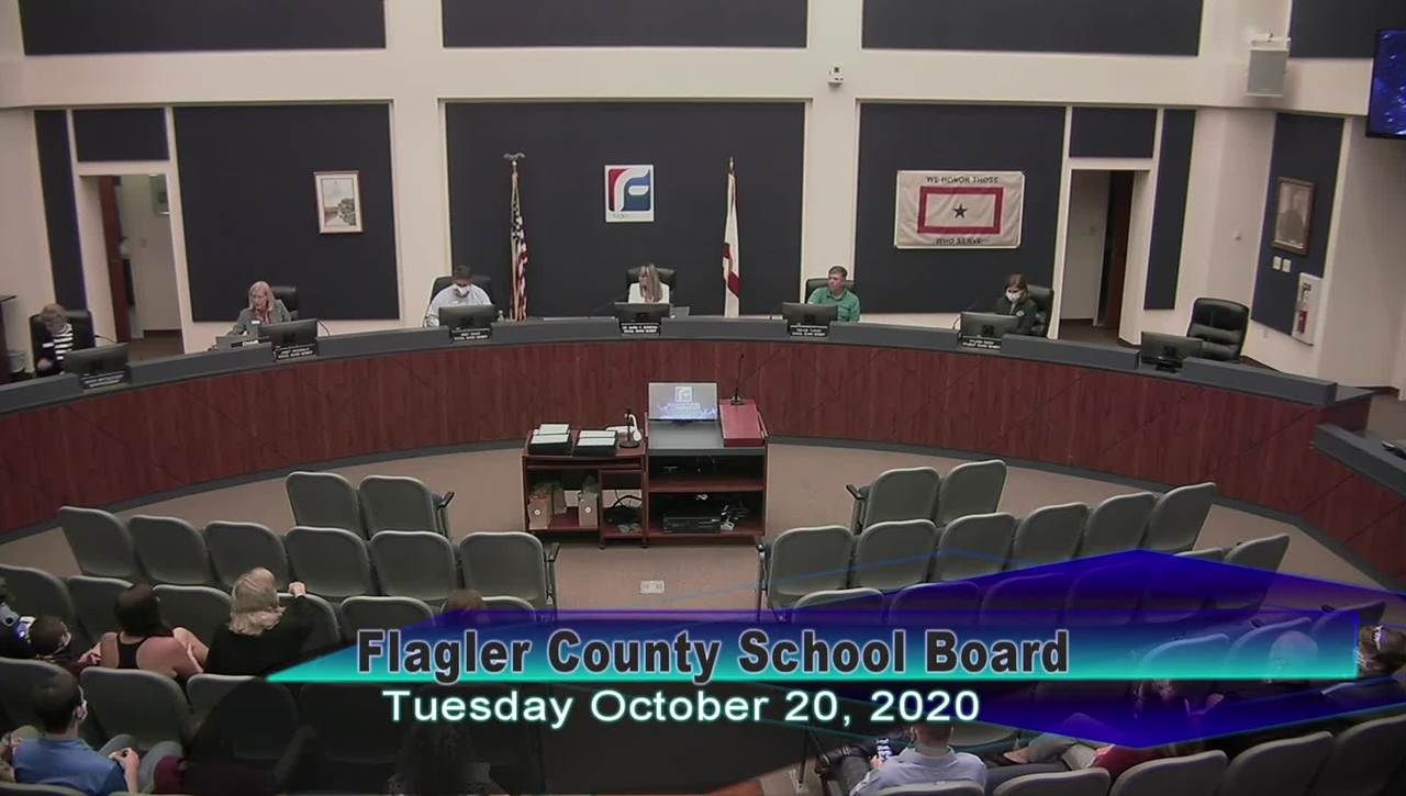 Board Meeting - October 20th, 2020
