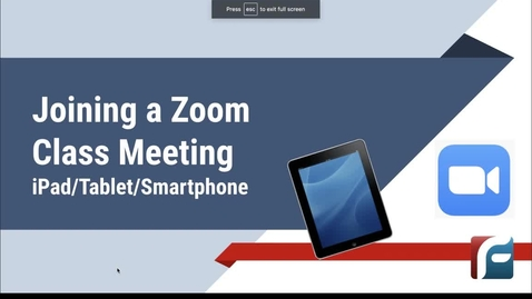 Thumbnail for entry Joining a Zoom Class Meeting iPad_Phone