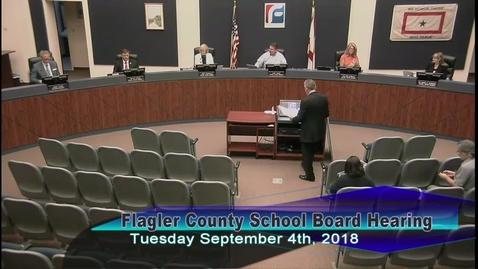 Board Public Hearing, September 4th, 2018