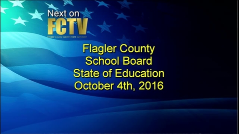 Thumbnail for entry State of Education October 4, 2016