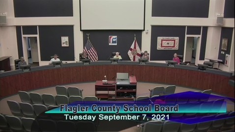 Thumbnail for entry Special Board Meeting - September 7, 2021
