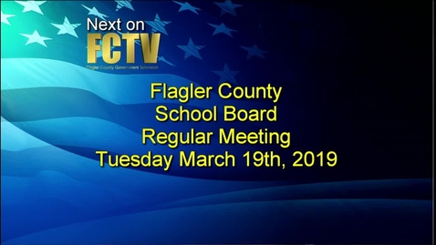 Thumbnail for entry Board Meeting March 19, 2019