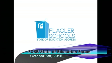 Thumbnail for entry State of Education Forum October 6, 2015