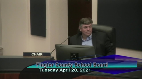 Thumbnail for entry Clip of Board Meeting - April 20, 2021