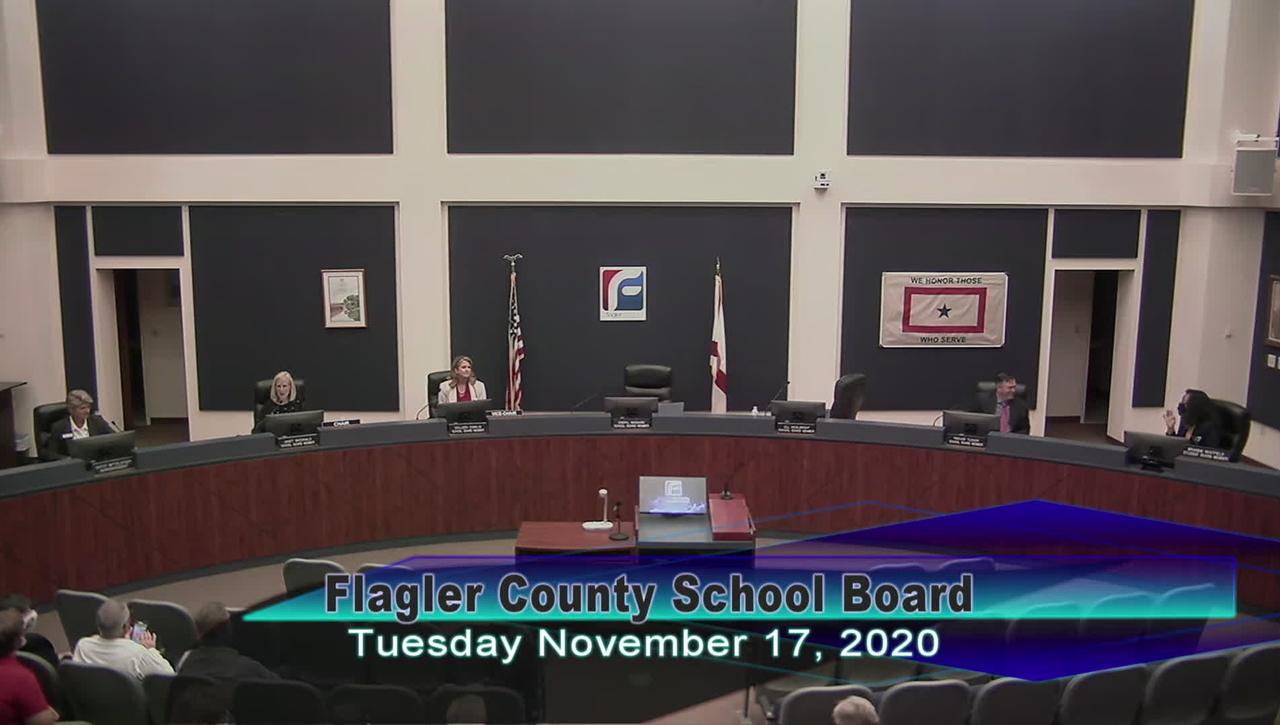 Board Meeting - November 17th, 2020