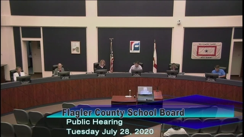 Thumbnail for entry Board Hearing and Budget Meeting - July 28th, 2020