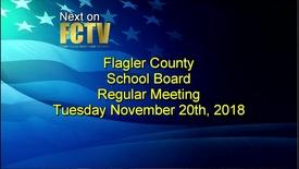 Thumbnail for entry Board Meeting November 20, 2018