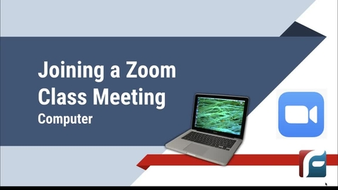 Thumbnail for entry Joining a Zoom Class Meeting on a Computer