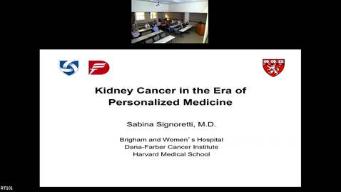 "Thumbnail for entry IUSCC Grand Rounds April 26, 2019 - Sabina Signoretti, MD ""Kidney Cancer in the Era of Personalized Medicine"""