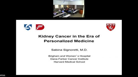 """Thumbnail for entry IUSCC Grand Rounds April 26, 2019 - Sabina Signoretti, MD """"Kidney Cancer in the Era of Personalized Medicine"""""""
