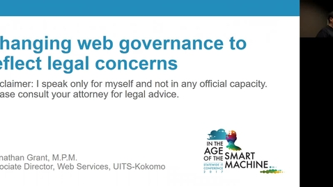 Thumbnail for entry Breakout session | Section 508 refresh: Changing web governance to reflect legal concerns
