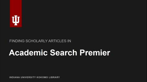 Thumbnail for entry Academic Search Premier