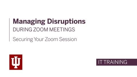 Thumbnail for entry Managing Disruptions During Zoom Meetings