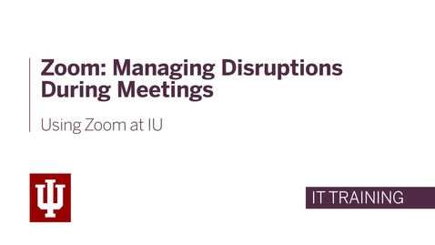 Thumbnail for entry Zoom: Managing Disruptions During Meetings