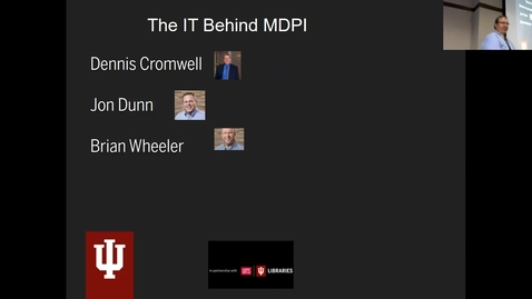 Thumbnail for entry Breakout session | The IT behind MDPI