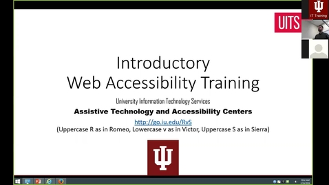Thumbnail for entry Introductory Web Accessibility