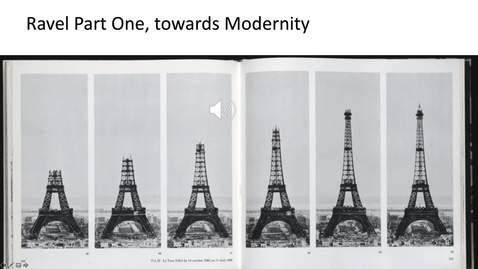 Thumbnail for entry Ravel Part One, towards Modernity