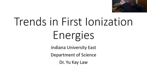 Thumbnail for entry Trends in First Ionization Energies