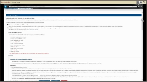 Thumbnail for entry MFR/DAR Editing NSSE Majors