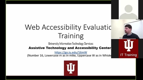 Thumbnail for entry Web Accessibility Evaluation