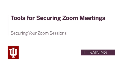 Thumbnail for entry Tools for Securing Zoom Meetings