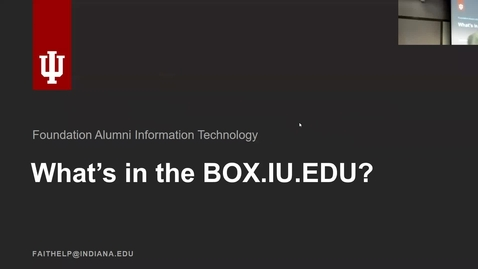 Thumbnail for entry Breakout session | Keeping data secure in Box