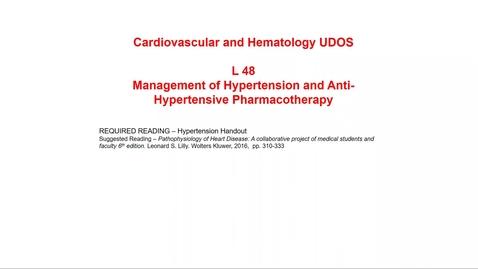 Thumbnail for entry Antihypertensive Drug Classes