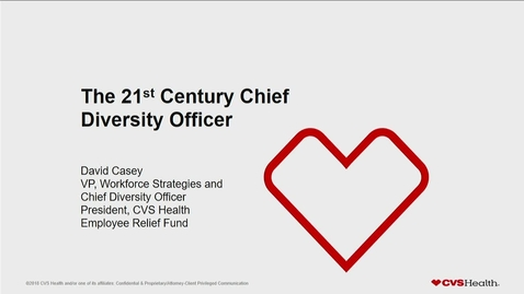 Thumbnail for entry David Casey, CVS Workforce Strategies & Chief Diversity Officer (Fall 2019)