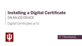 Thumbnail for entry Installing a Digital Certificate on an iOS Device