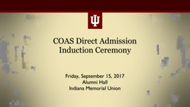 Thumbnail for entry COAS Direct Admission Induction Ceremony