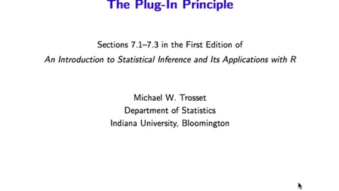 Thumbnail for entry Data 2: The Plug-In Principle