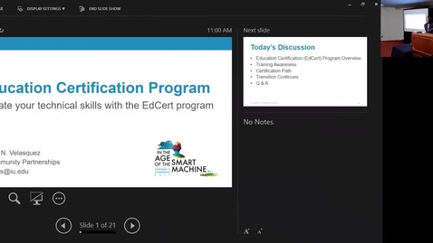Thumbnail for entry Breakout session | Elevate your technical skills with the EdCert program